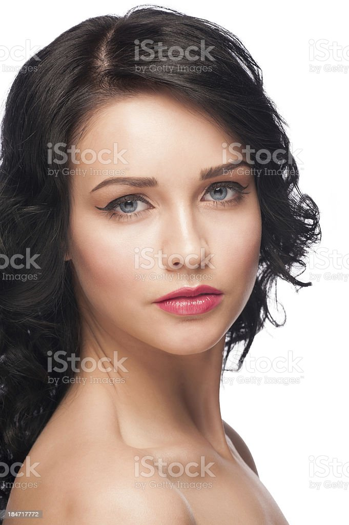 Woman with bright makeup royalty-free stock photo