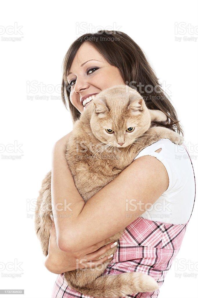 Femme avec chat - Photo