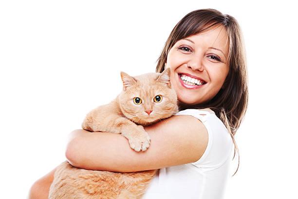 Frau mit Katze – Foto