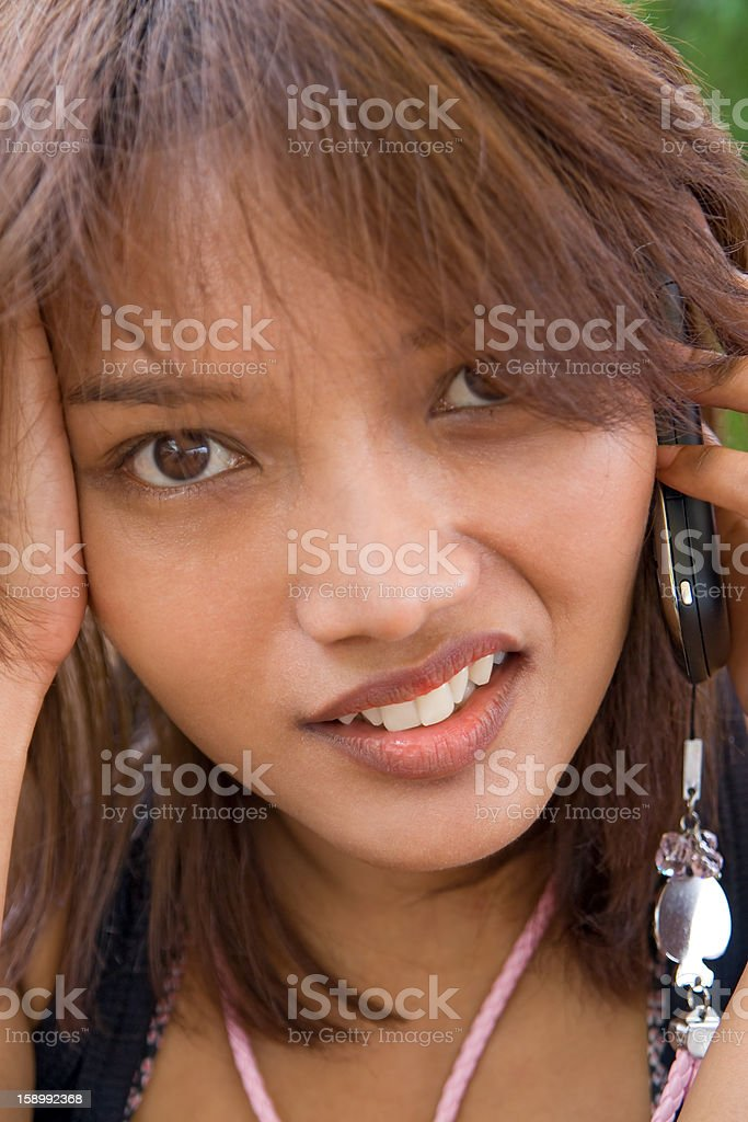 woman with cellular telephone royalty-free stock photo