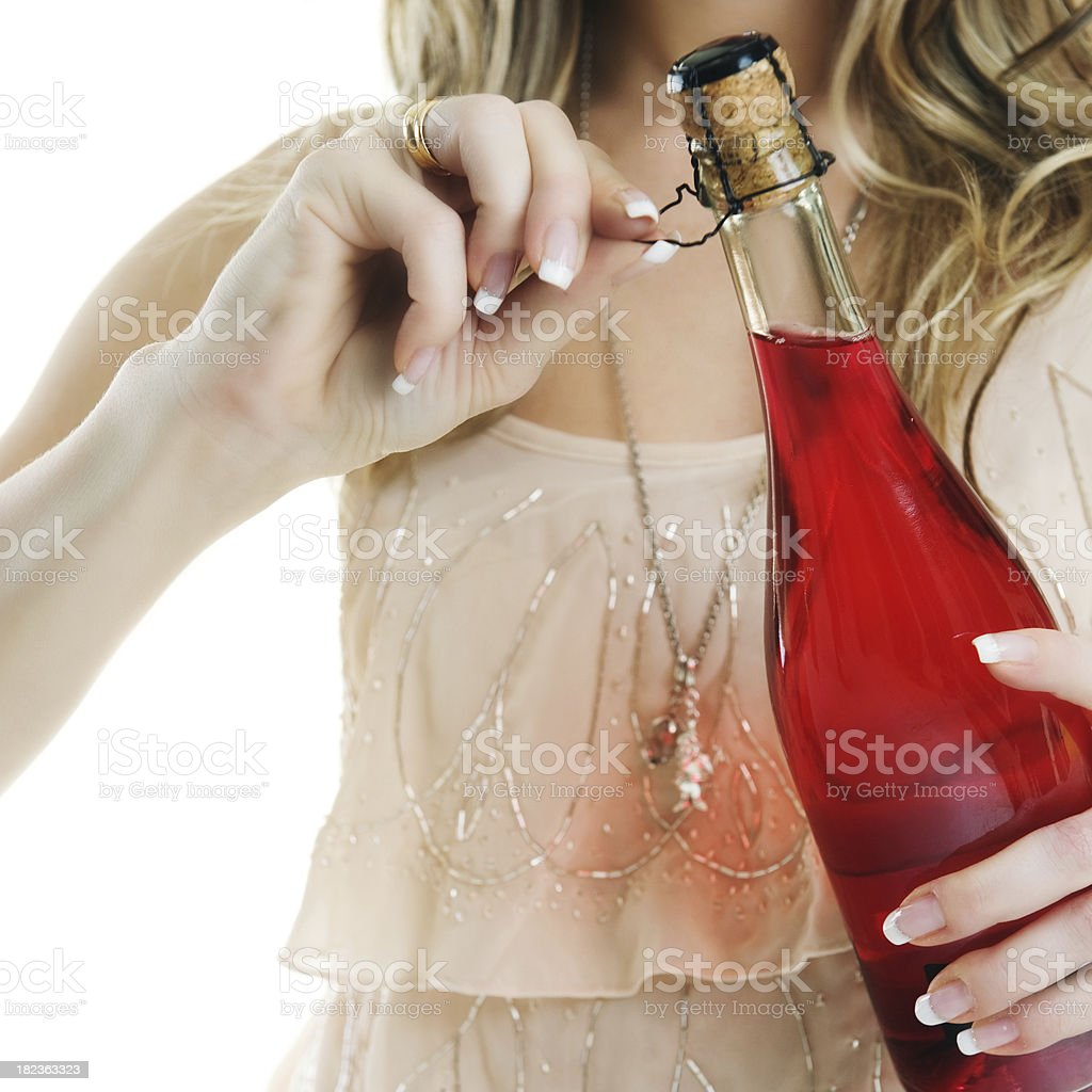 woman with champagne glass royalty-free stock photo