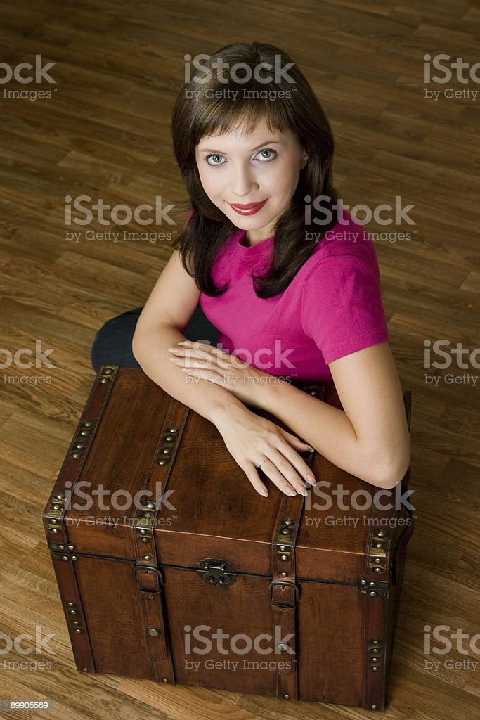 Woman with chest royalty-free stock photo