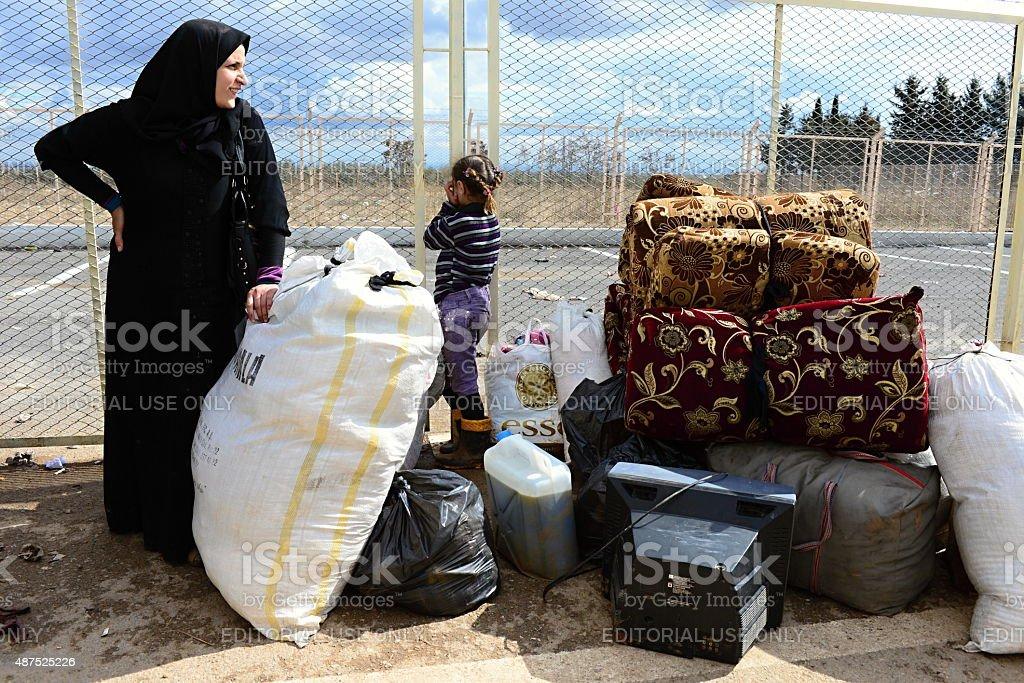 Femme avec enfants de réfugiés de Syrie - Photo
