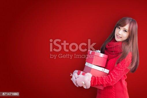 istock woman with christmas 871471660