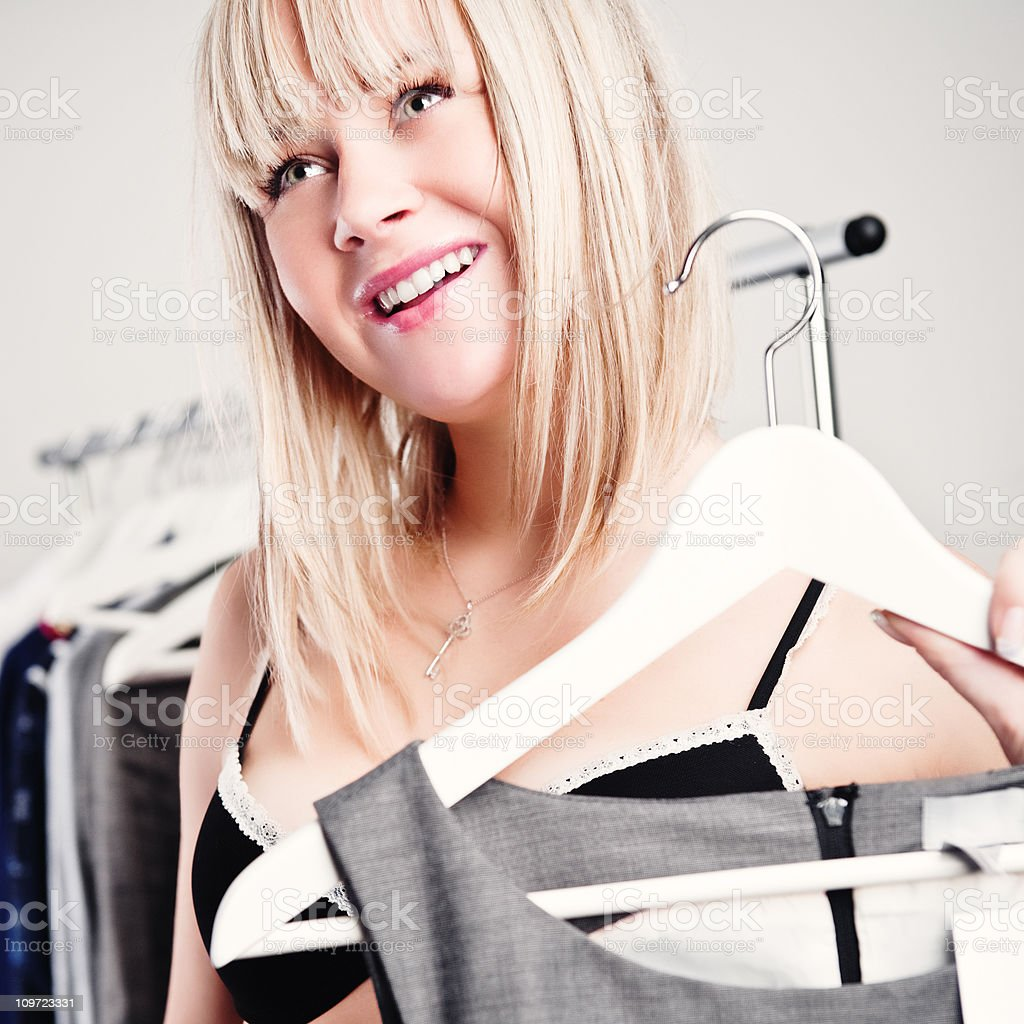 woman with clothing royalty-free stock photo