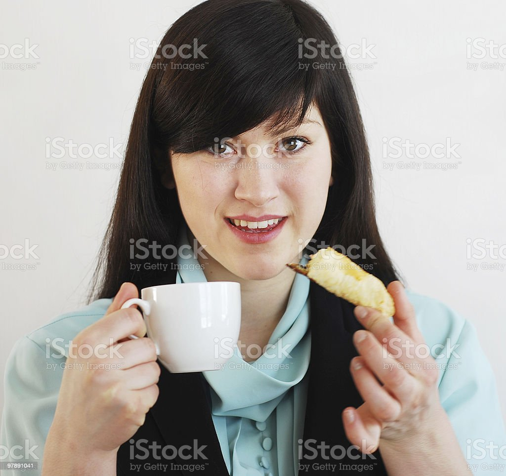 Woman with coffee cup royalty-free stock photo