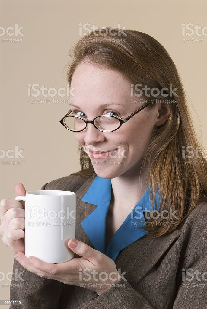 woman with coffee royalty-free stock photo