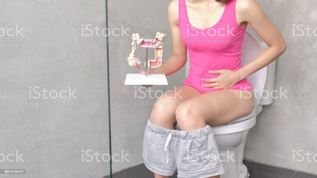 woman with colorectal cancer stock photo