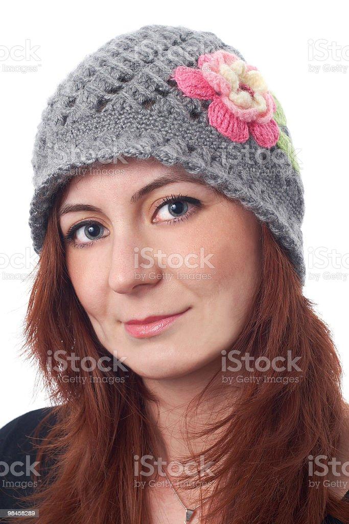 Donna con cappello colorato foto stock royalty-free