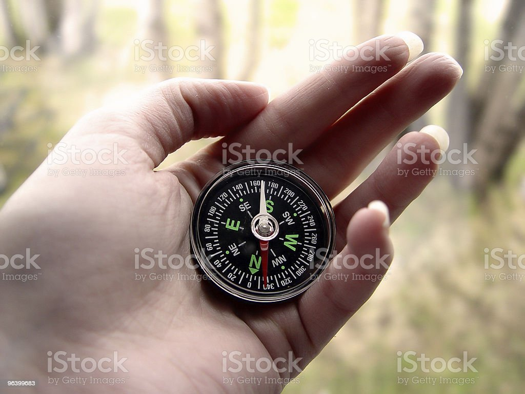 Woman with Compass - Royalty-free Abstract Stock Photo