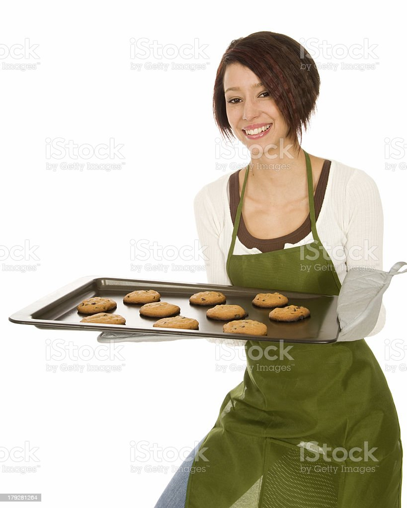 Woman with Cookies royalty-free stock photo