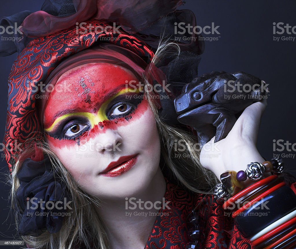 Woman with creative make-up stock photo