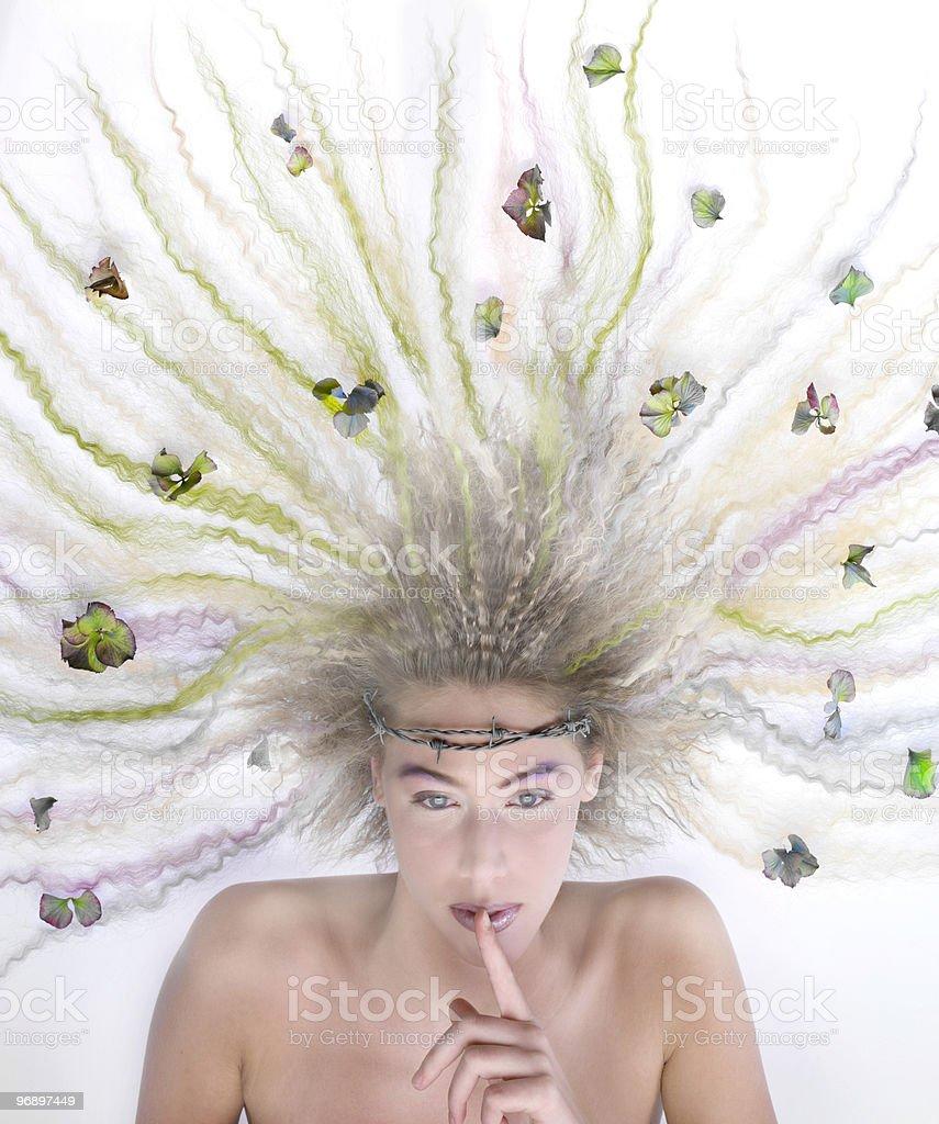 donna con corona di spine royalty-free stock photo