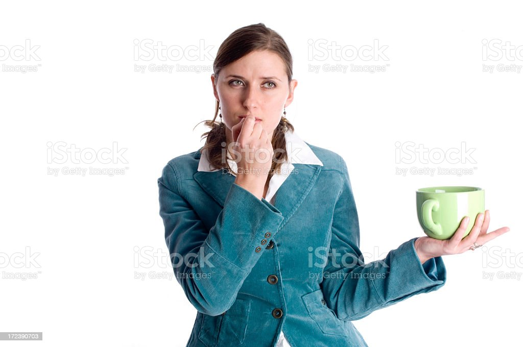Woman with cup royalty-free stock photo