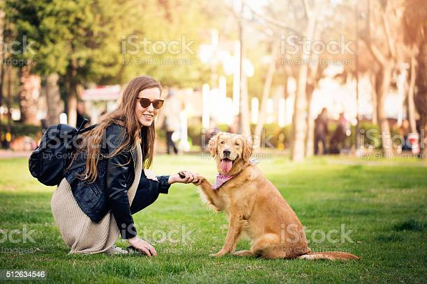 Woman with cute dog picture id512634546?b=1&k=6&m=512634546&s=612x612&h=9qjipaj4tuzadenxe a3o3tbgio8uktp51ipap0qzt8=