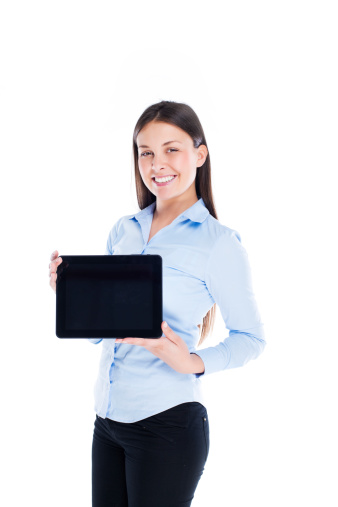610677352 istock photo Woman with digital tablet 497687581