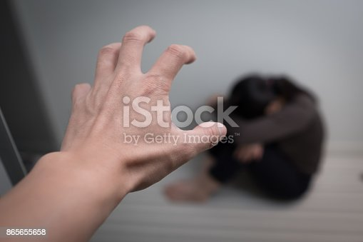 istock woman with domestic violence 865655658