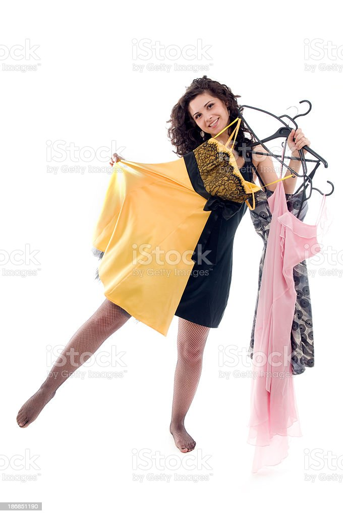 Woman with dresses series royalty-free stock photo