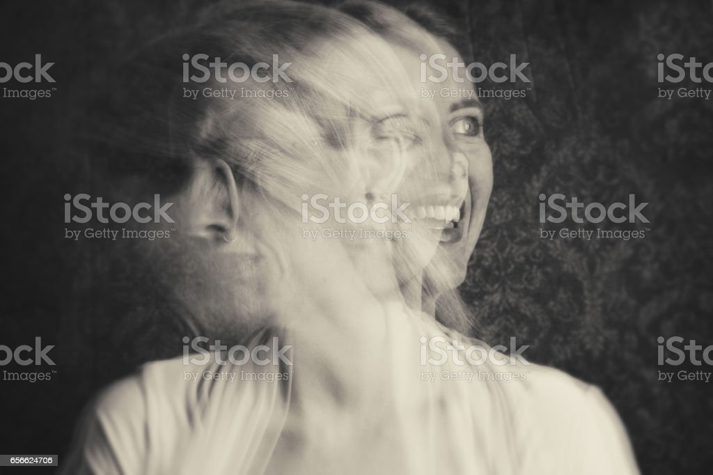 Woman With Emotional Struggles stock photo