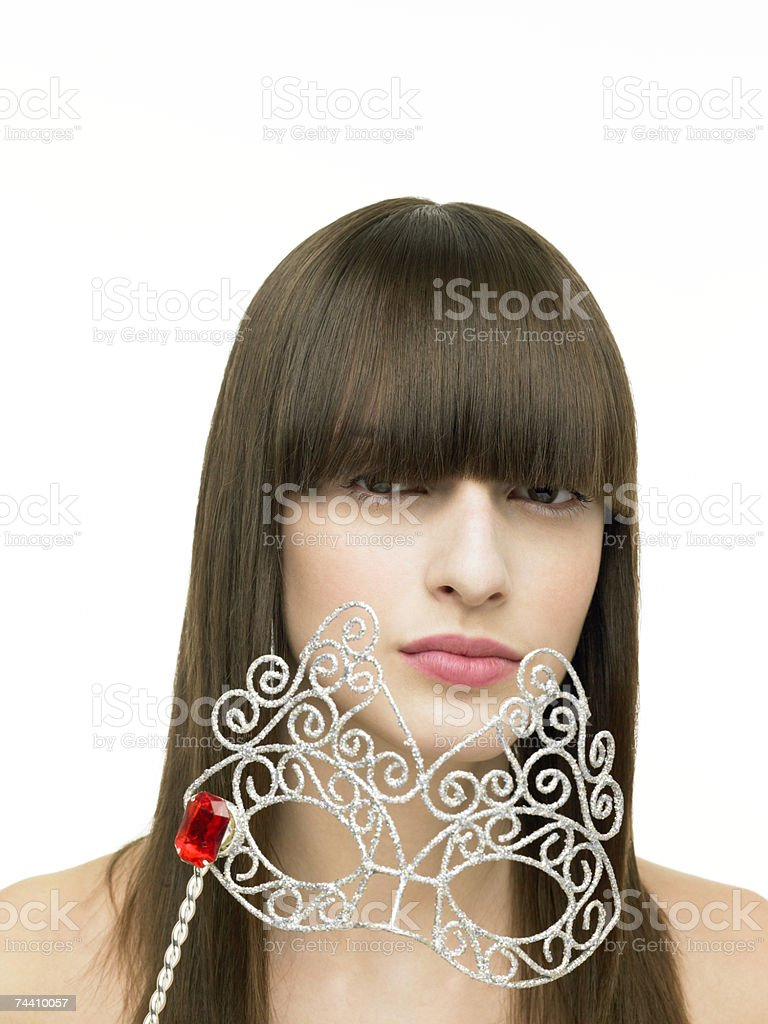 Woman with eye mask royalty-free stock photo