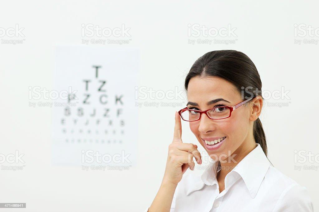 Frau mit eyeglasses – Foto