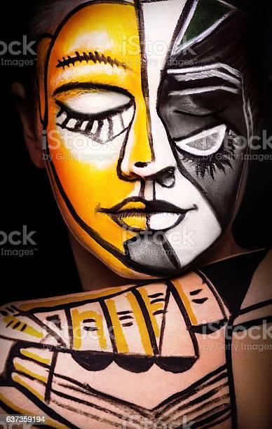 Woman with face art original surrealism makeup picture id637359194?b=1&k=6&m=637359194&s=612x612&h=1uz53noznvkndzukfwrafcdzzyauywm64phastfl 4a=
