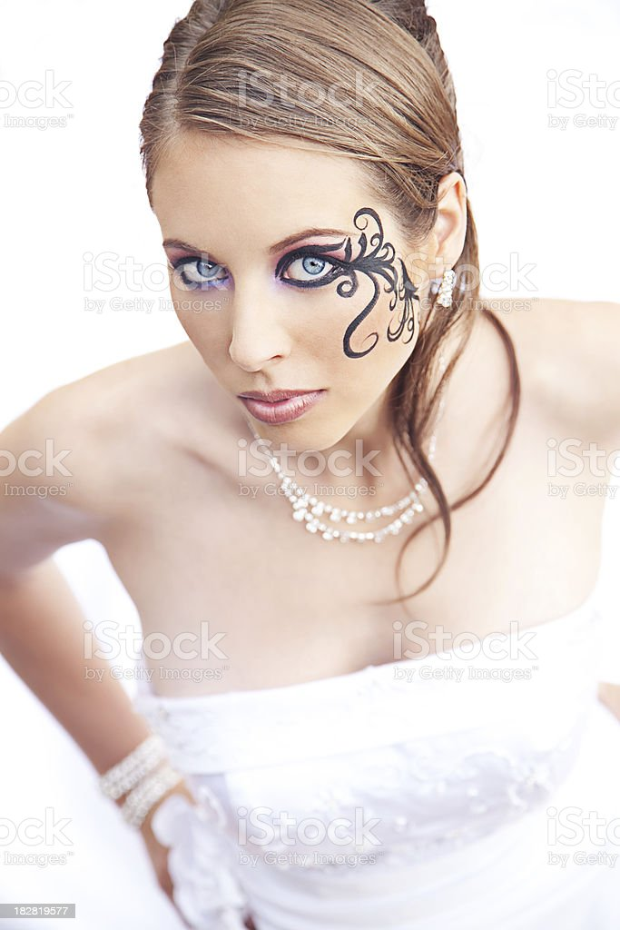 Woman With Face Paint royalty-free stock photo