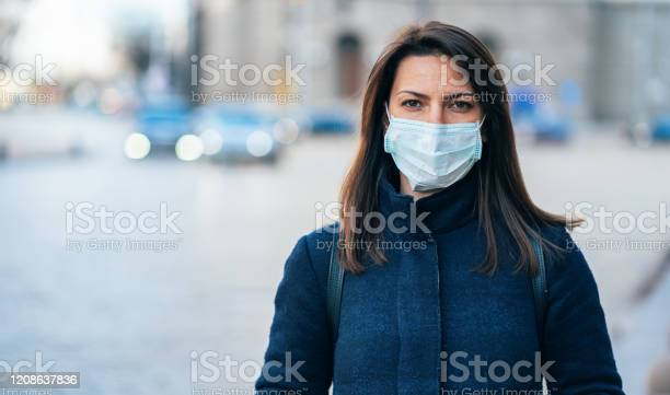 Woman With Face Protective Mask Stock Photo - Download Image Now