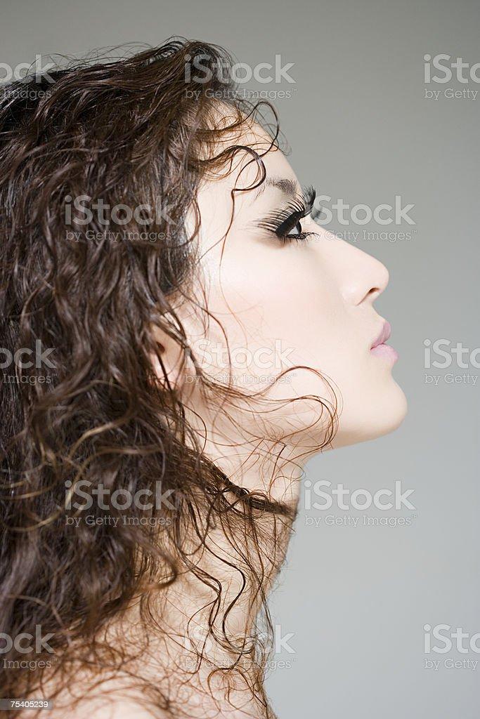 Woman with fake eyelashes foto de stock royalty-free