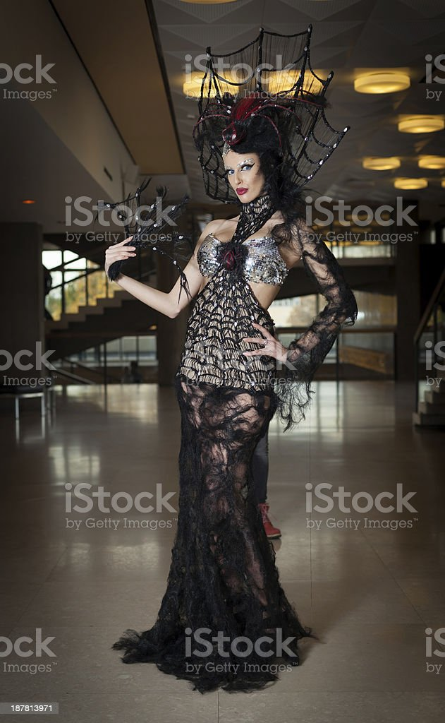Woman with fashion outfit stock photo