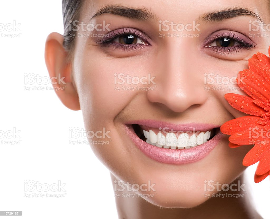 Woman with flower royalty-free stock photo