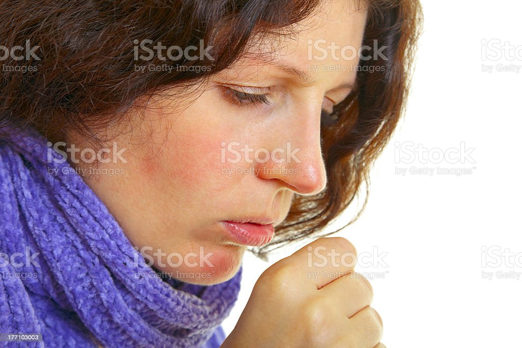 Woman with flu virus royalty-free stock photo