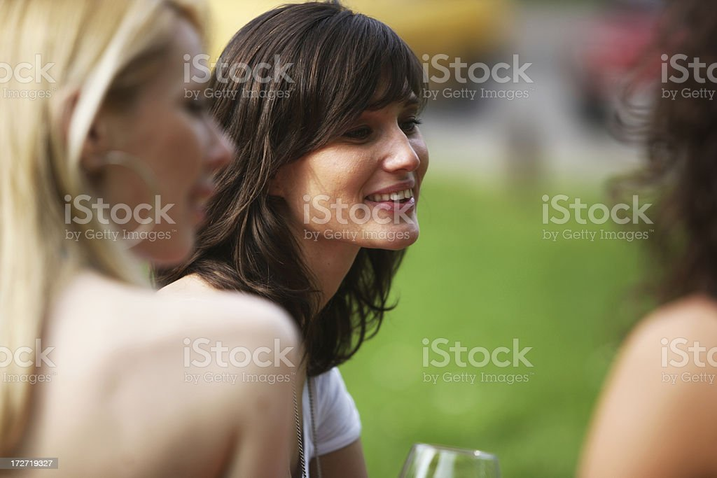 Woman with friends royalty-free stock photo