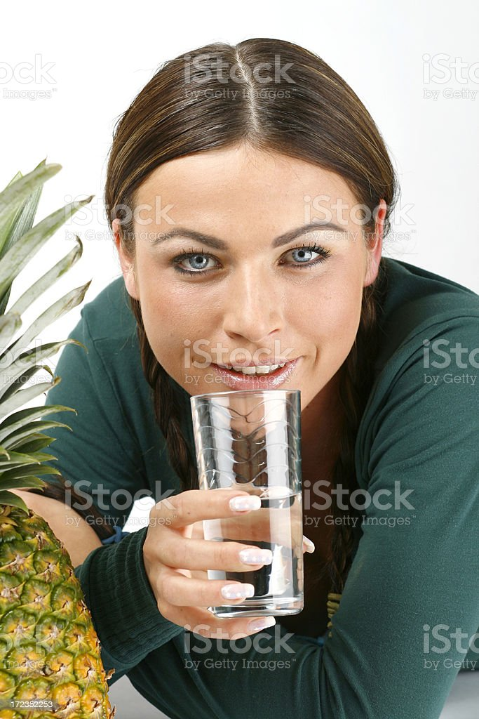 Woman with fruit royalty-free stock photo