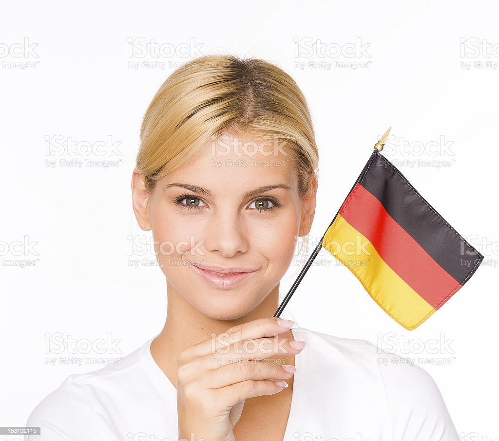 Woman with Germany flag royalty-free stock photo