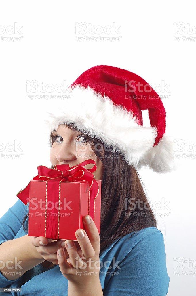 Femme avec un cadeau#10 photo libre de droits