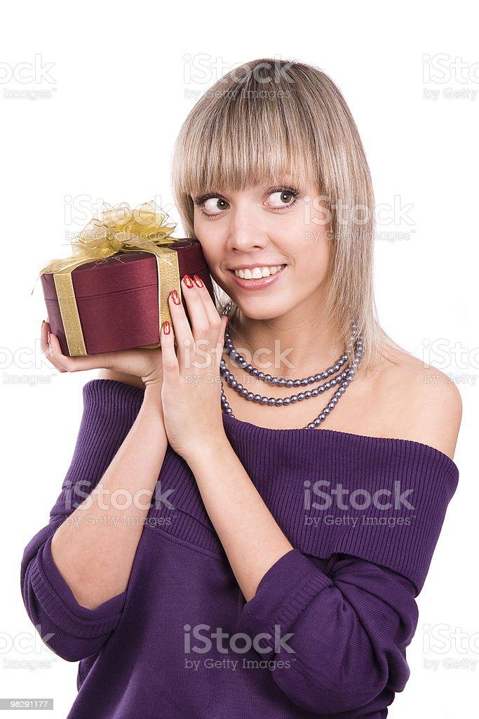 여자 선물 royalty-free 스톡 사진