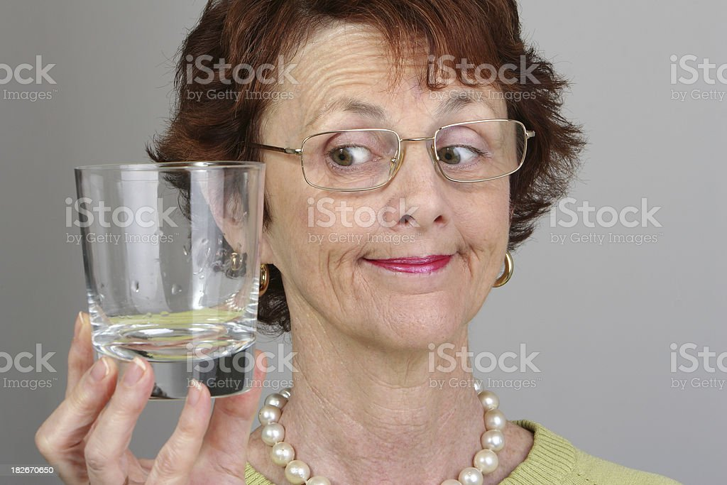 Woman with glass royalty-free stock photo