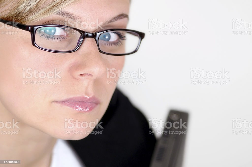 Woman with glasses II royalty-free stock photo
