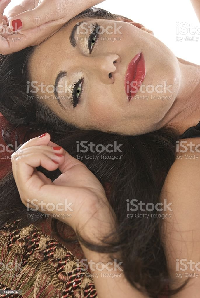 Woman with Green Eyes royalty-free stock photo