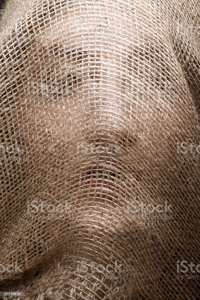 woman with gunny mask royalty-free stock photo