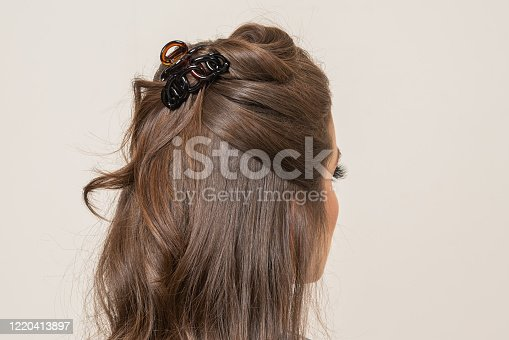 Woman With Hair Clips