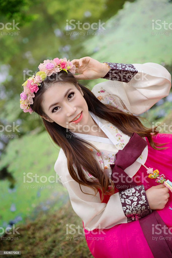 Woman with Hanbok, stock photo