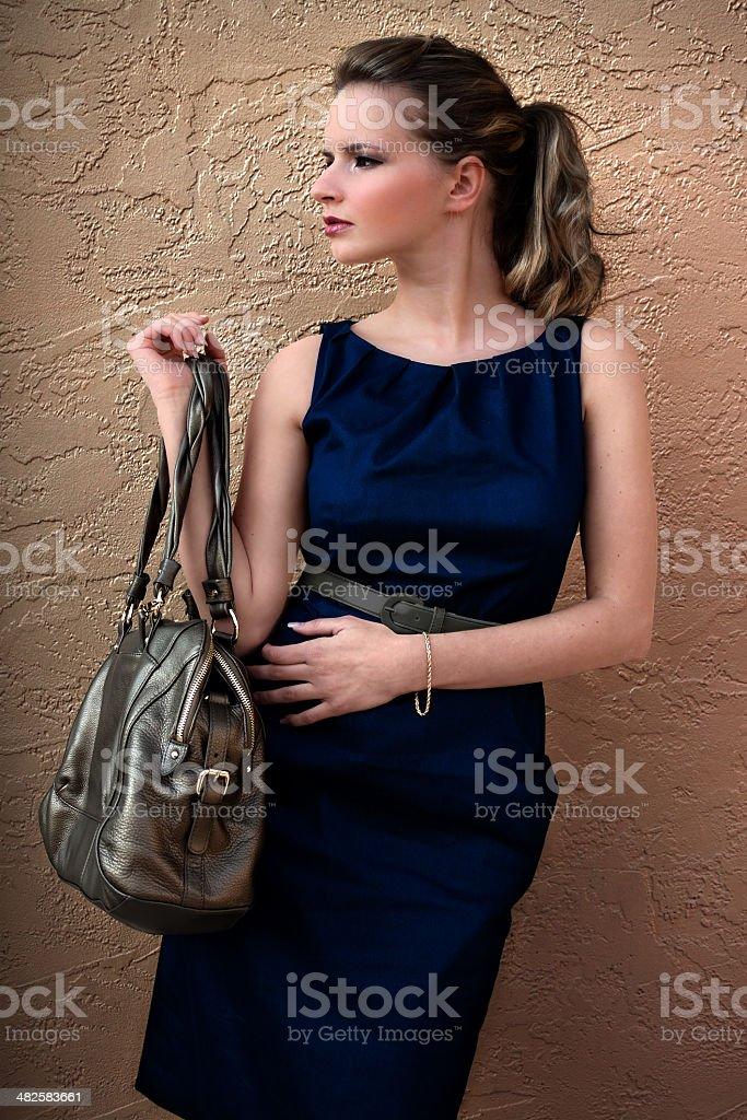 Woman With Handbag stock photo