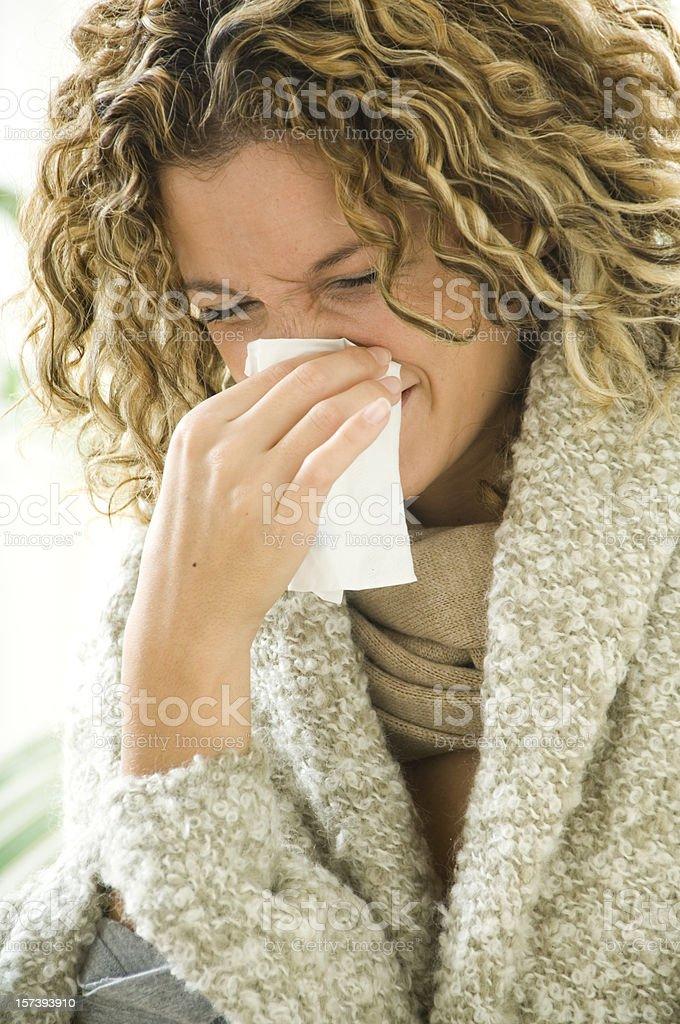 Woman with handkerchief royalty-free stock photo
