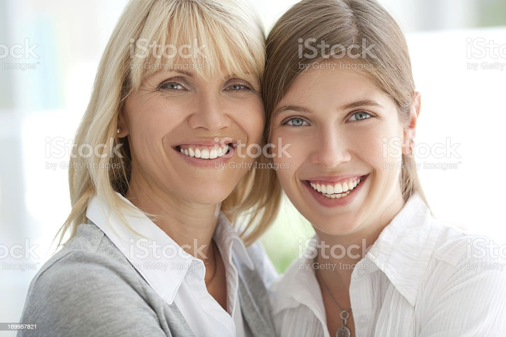 Woman with her daughter. royalty-free stock photo