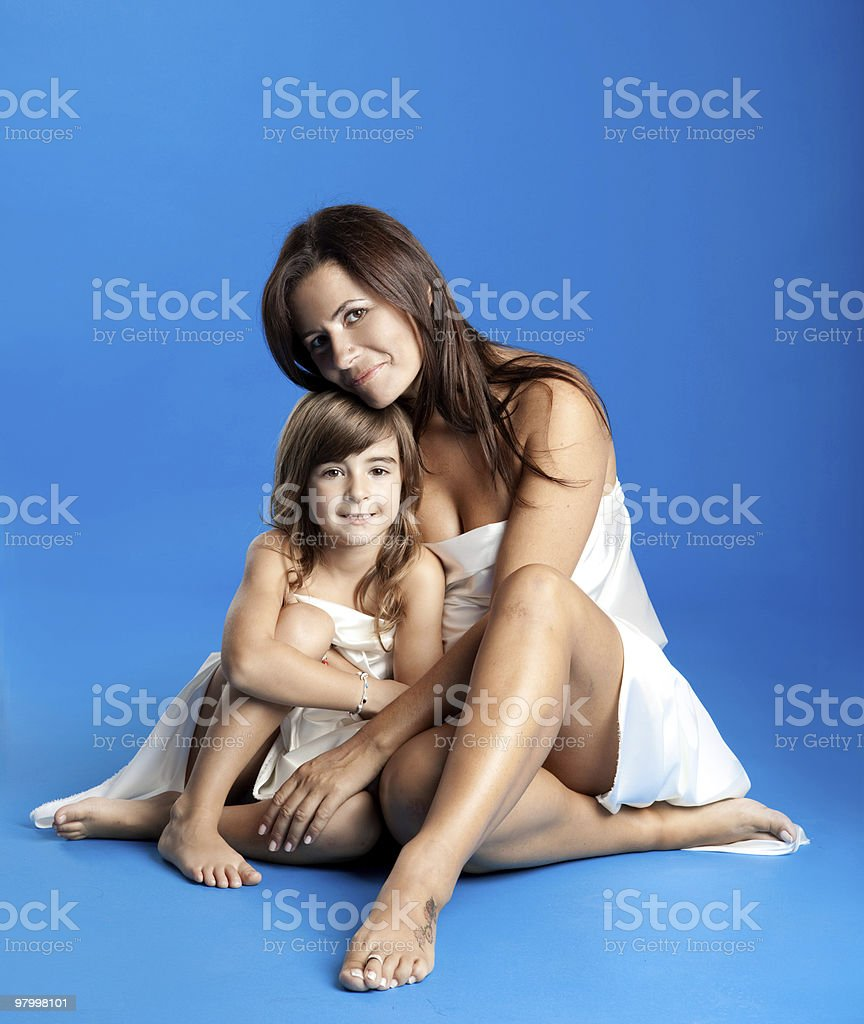 woman with her daughter royalty-free stock photo