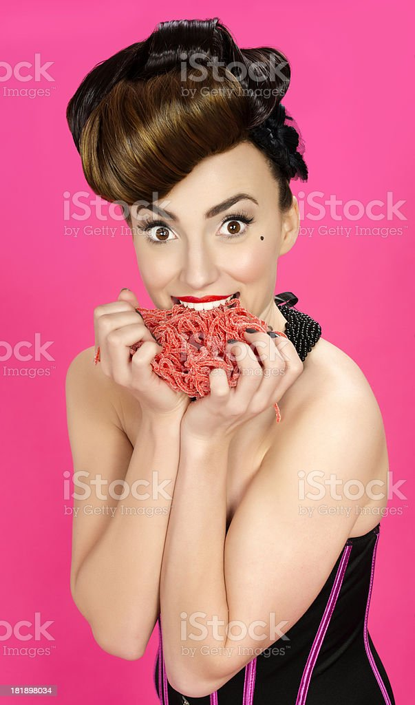 woman with jelly royalty-free stock photo