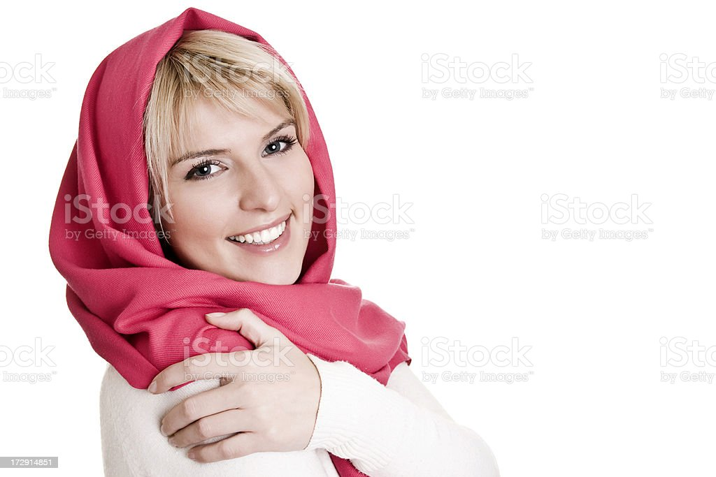Woman with kerchief royalty-free stock photo