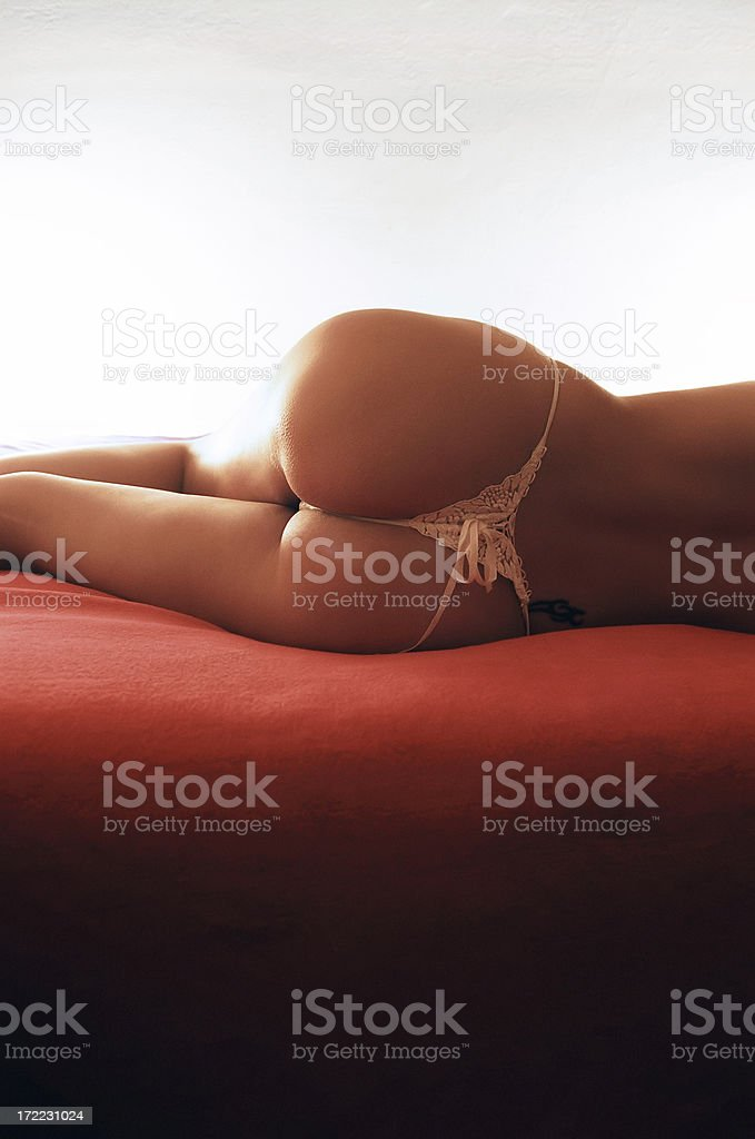 Woman with lace panties royalty-free stock photo